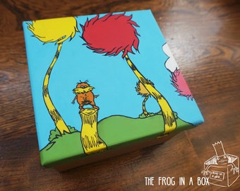Hand-Painted The Lorax Box