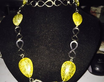 Yellow quartz necklace