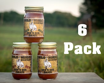 6 Pack Wild Horse Mountain BBQ Sauce