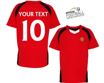Kids 100% OFFICIAL Manchester United Personalised Football Team Jersey Shirt 2016/17 Birthday Christmas Gift For Children *GIFT BOXED free*