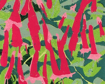 Garden #10, original woodcut print
