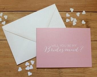 Bridesmaid Card -  Will You Be My bridesmaid Card