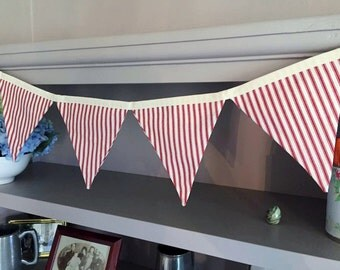 Red Stripe Bunting - approx. 3m