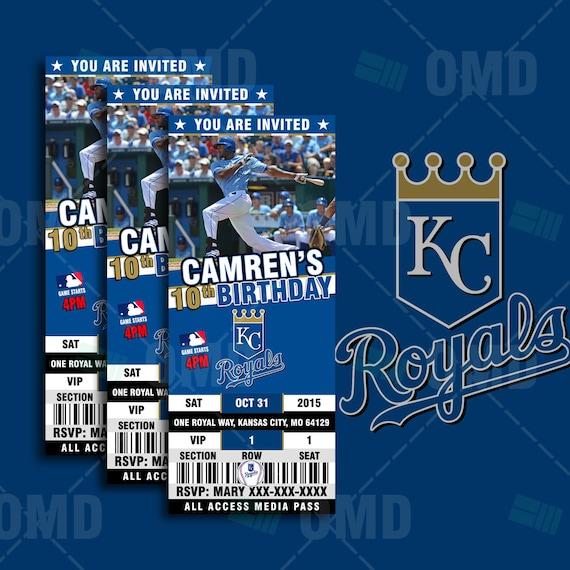 2.5x6 Kansas City Royals Baseball Sports Party By