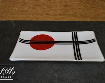 Fused Glass Sushi Dish, Serving Platter