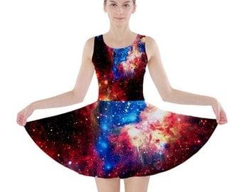 Galaxy Skater Dress - Supernova, Nebula