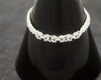 White Hemp Macrame Chainmail Bracelet, perfect for him or her.