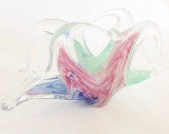 Vintage Murano Glass Napkin Letter Holder