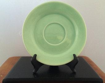 Vintage Bauer Pottery La Linda Saucer -Green