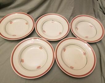 Lot of 5 Vintage Mid century Rorstrand Jenny soup bowls Sweden