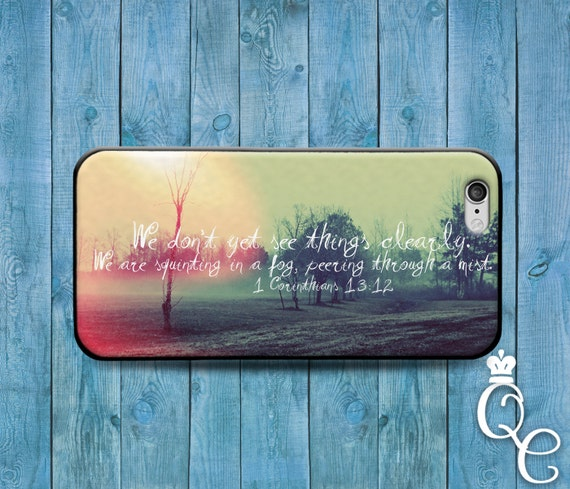 iPhone 4 4s 5 5s 5c SE 6 6s 7 plus iPod Touch 4th 5th 6th Generation Custom Phone Case Cute Bible Verse Quote Corinthians Cool Nature Cover