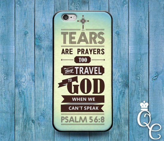 iPhone 4 4s 5 5s 5c SE 6 6s 7 plus iPod Touch 4th 5th 6th Generation Cool Bible Verse Psalm Christian Book Quote Cover Cute Tear Word Case