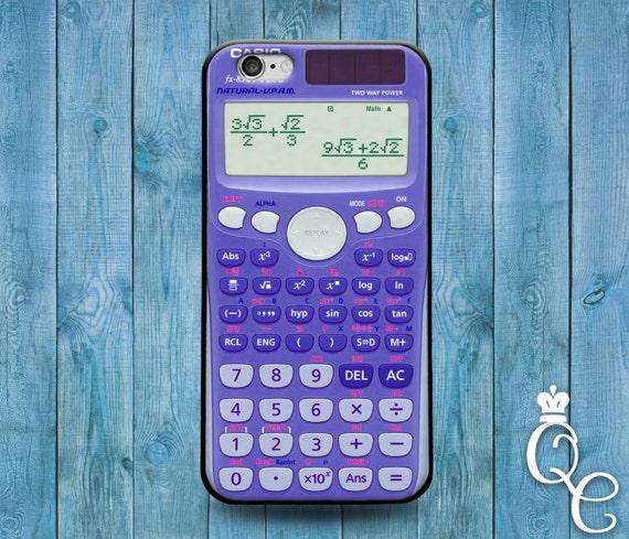 iPhone 4 4s 5 5s 5c SE 6 6s 7 plus iPod Touch 4th 5th 6th Gen Cover Funny Math Calculator School Device Cute Nerd Geek Purple Cool Cover