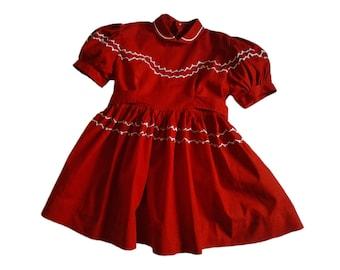 dress child vintage, 50s