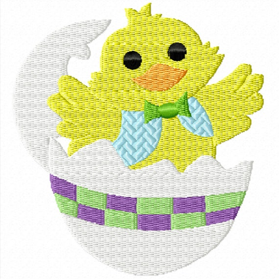 Easter duckling a machine embroidery design for or
