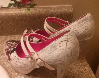 silent hill hand painted heels