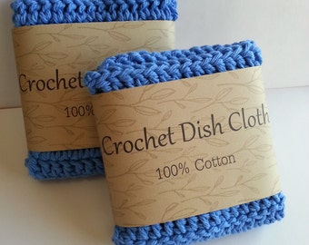 Crochet dishcloth, Crochet wash cloth. Crochet dish cloth, 100% Cotton dish cloth, Set of 2