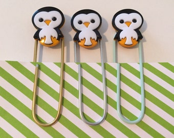 Jumbo Penguin Paperclip Bookmarks