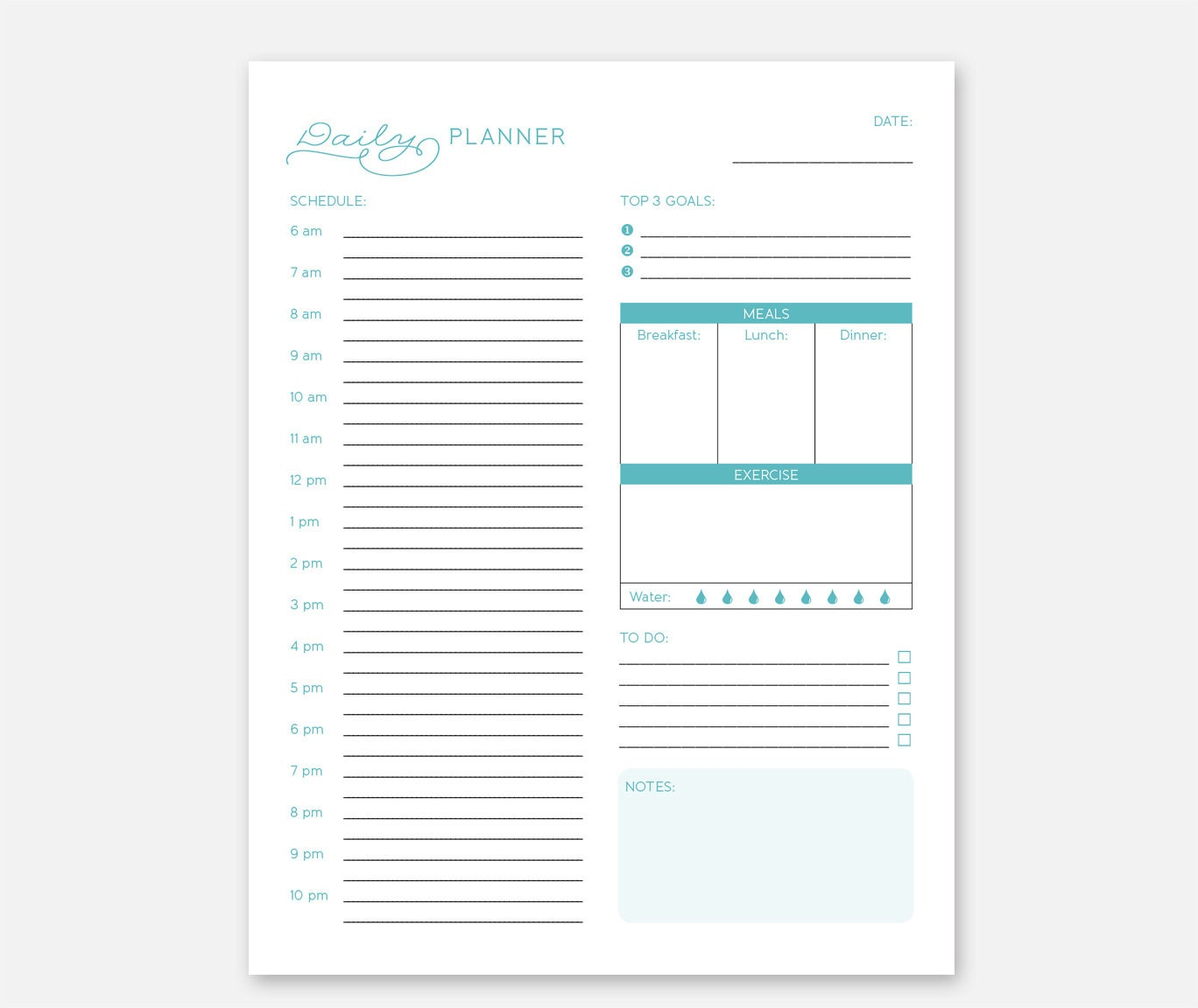 Create Your Own Personal Planner Daily Printable Planner Office Daily Planner Daily To Do