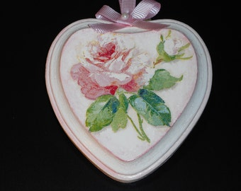 Wooden Heart/Decoupage Wooden Small Heart