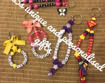 Thank you teacher keyring gifts different styles special best head assistant
