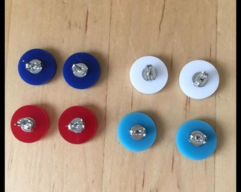 Monogrammed acrylic earrings