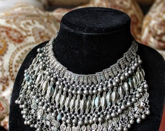 Bedouin Beaded Libbeh/Choker Ceremonial Bridal Necklace