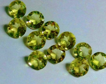 14mm Natural Lemon Quartz Round Cut Calibrated Size - Top Quality Yellow Quartz - Semi Precious Loose Gemstone