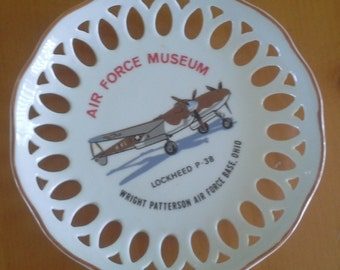 Air Force Museum glass plate Lockheed P38 Wright Patterson AFB Ohio