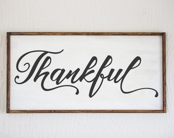 Thankful - Wood Sign