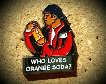 Kel Loves Orange Soda Hat Pin - Nickelodeon Throwback 90's Kenan and Kel