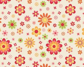 1/2 yd SALE Just Dreamy 2 Cream Floral by My Mind's Eye for Riley Blake C4131 Cream