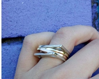 MINIMALISM,  gold stackers, Gold stacking rings, Luxury Statement Rings.