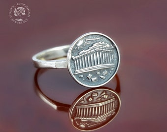 Parthenon silver ring, ancient ring, antique ring, greek ring, Parthenon ring, ancient greek ring, ancient temple, ancient