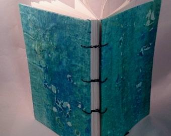 Paste Paper Journal, Blank Notebook, Handmade Notebook, Coptic Stitch