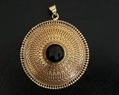 Black onyx pendent tribalavtar pendent tribal Brass pendent ethnic pendent yoga jewellery brass pendent