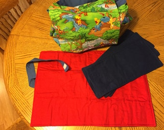 Disney Winnie the Pooh Diaper Bag with Burp Rags and Changing Pad