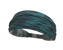 Abstract Static Teal - Fitness Crossfit Workout Headband