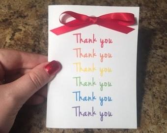 Thank You, Thank You, Thank You Cards - set of 10 w/ envelopes