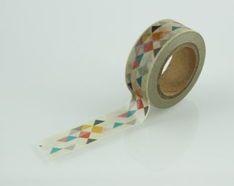 Modern Bauhaus Style Triangle Washi Tape// 15mm // Paper Tape // BBBsupplies {CR-W-P128}