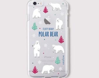 iphone 6 case- cute Polar Bear jelly phone case