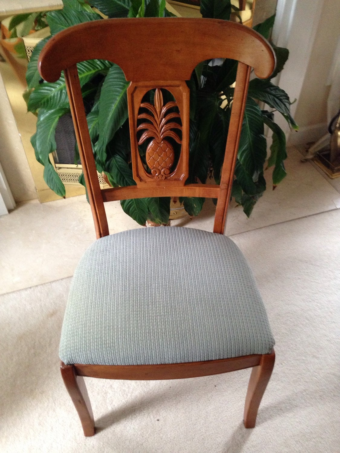 Ethan Allen Legacy Pineapple Side Chair Has Hairline