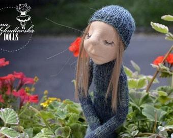 Mimoza - handmade doll- textile doll- fabric doll- rag doll- home decoration- handmade toy