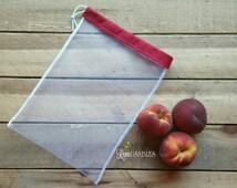 Produce bag, reusable, ecofriendly, veggie bag, fruit bag, farmers market bag, garden bag, small mesh bag