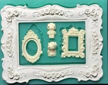 Picture Frames Sugarcraft Cake Decorating Fondant Silicone  molds