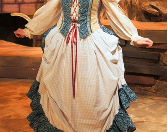 Gypsy boned bodice and bustle skirt