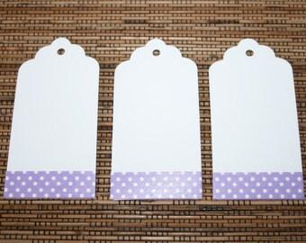 Purple Spotty Gift Tags