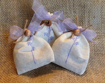 Sachets/Wedding favors/ shower favors/ Lavender Sachets/ mint sachets/dryer bags/ made in Michigan