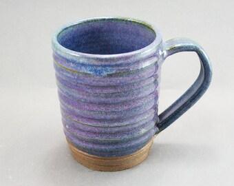 Pottery Coffee Mug Rutile Blue CHUN24