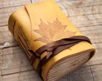 Yellow Leather Journal, Handbound Journal